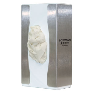 Bowman Glove Box Dispenser - Single - Food Service - Narrow Bowman GL102-0300